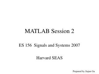 MATLAB Session 2