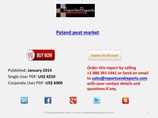 Poland peat market Forecasts