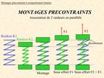 Montages pr contraints comportement lin aire