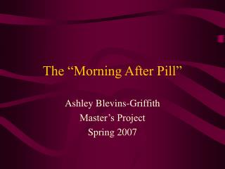 the morning after pill essay