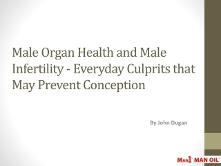 Male Organ Health and Male Infertility - Everyday Culprits