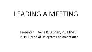 parliamentary procedure