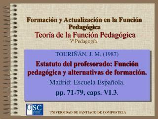 Teoría de la Función Pedagógica