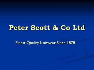 Peter Scott & Co Ltd