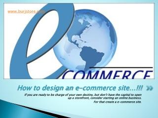 design an e-commerce site