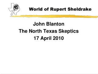 World of Rupert Sheldrake