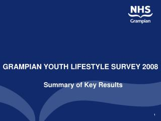 GRAMPIAN YOUTH LIFESTYLE SURVEY 2008