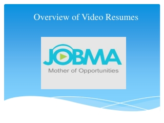 Overview of Video Resumes