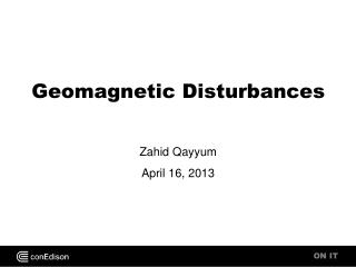 Geomagnetic Disturbances