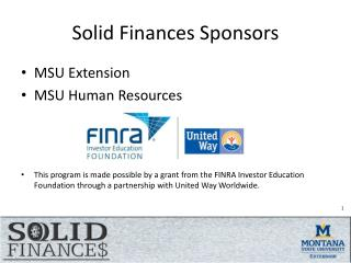 Solid Finances Sponsors