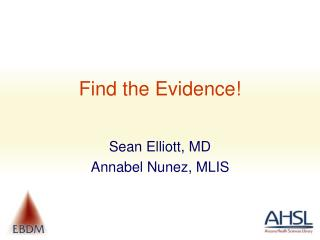 Find the Evidence!