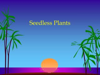 Seedless Plants