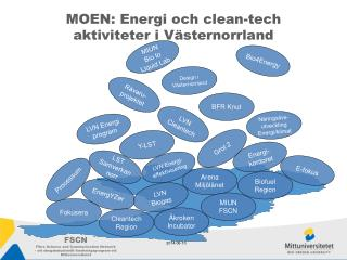 MOEN: Energi och clean-tech aktiviteter i Västernorrland