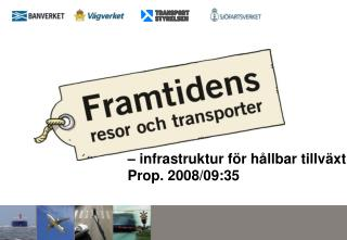 – infrastruktur för hållbar tillväxt Prop. 2008/09:35