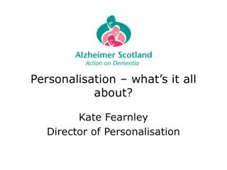 Personalisation – what's it all about?