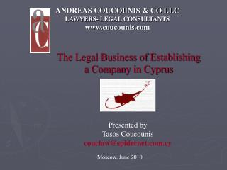 ANDREAS COUCOUNIS & CO LLC LAWYERS- LEGAL CONSULTANTS www.coucounis.com