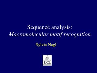 Sequence analysis: Macromolecular motif recognition