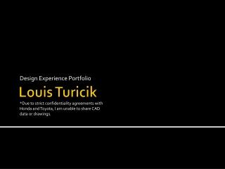 Louis Turicik - Product Design Portfolio