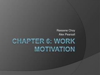 Chapter 6: Work Motivation