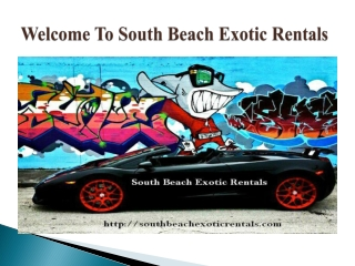 South Beach Exotic Rentals