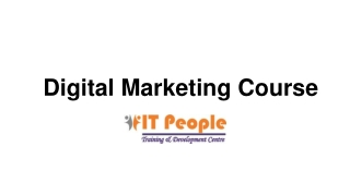 Digital Marketing training program - IT People