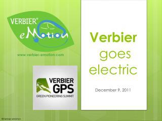 Verbier goes electric