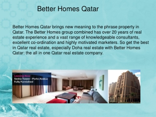 Better Homes Qatar