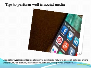 Tips to perform well in social media