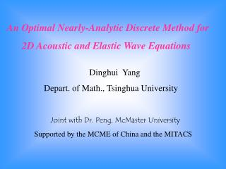 An Optimal Nearly-Analytic Discrete Method for 2D Acoustic and Elastic Wave Equations