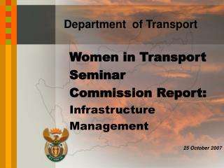 Women in Transport Seminar Commission Report: Infrastructure Management