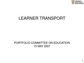 LEARNER TRANSPORT