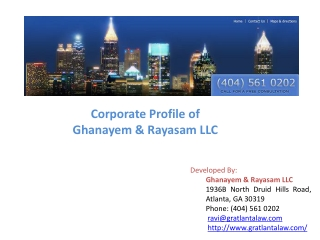Corporate Profile of Ghanayem