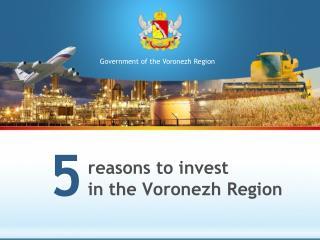 reasons to invest in the Voronezh Region