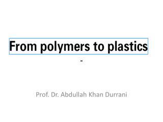 Prof. Dr. Abdullah Khan Durrani