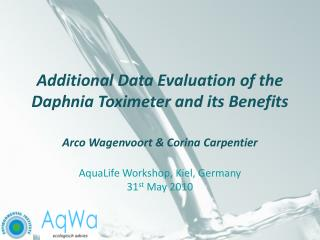 Additional Data Evaluation of the Daphnia Toximeter and its Benefits