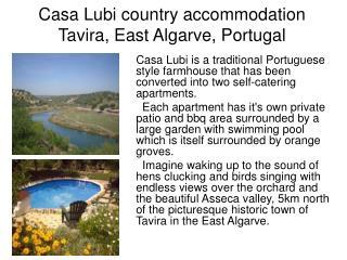 Casa Lubi country accommodation Tavira, East Algarve, Portugal