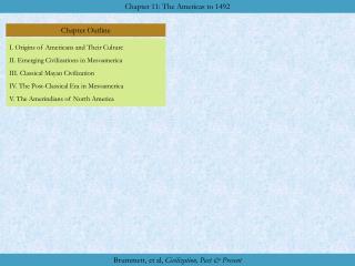 I. Origins of Americans and Their Culture II. Emerging Civilizations in Mesoamerica III. Classical Mayan Civilization