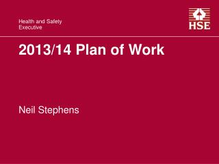 2013/14 Plan of Work