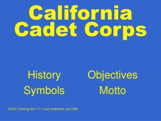 California Cadet Corps