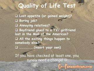 Quality of Life Test