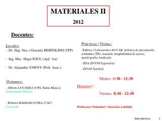 MATERIALES II 2012