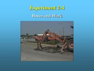 Experiment 2-4 Power and Work