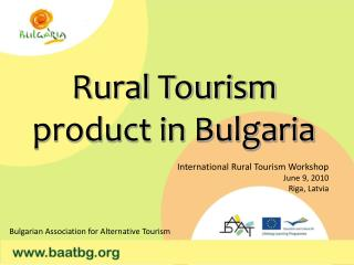 Rural Tourism product in Bulgaria