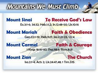 Mount Zion Isa.2:1-4; Acts 2; Lk.24:47,48; 1 Tim.3:15