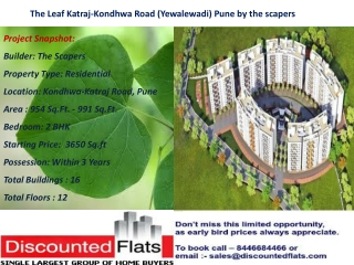 The Leaf Katraj-Kondhwa Road (Yewalewadi) Pune by The Scaper