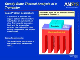 Steady-State Thermal Analysis of a Transistor