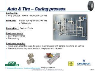 Auto & Tire – Curing presses