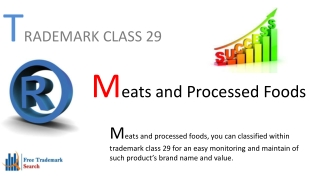 Trademark Class 29 | Meats and Processed Foods