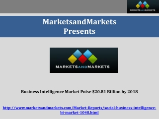 Business Intelligence Market Poise $20.81 Billion by 2018