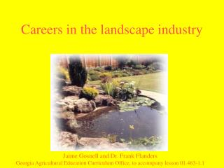Careers in the landscape industry